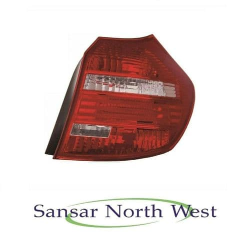 BMW 1 Series Drivers Rear Lamp Tail Light Red with Clear Indicator O/S RIGHT